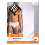 Мужские классические хлопчатобумажные трусы по 2 штуки в упаковке.