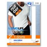 Классическая хлопчатобумажная футболка с увеличенным сроком службы по 2 шт в упаковке.