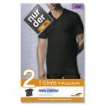 Классическая хлопчатобумажная футболка с V-образным вырезом по 2 шт в упаковке.