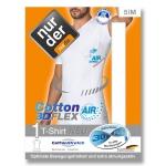 Хлопчатобумажная футболка 3D-FLEX AIR с зонами улучшенной воздухопроницаемости.